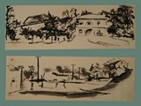 Pen & Ink Drawings by Helga Wolfenstein of Theresienstadt
