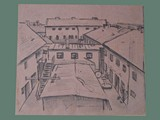 Drawing by Helga Wolfenstein of Theresienstadt