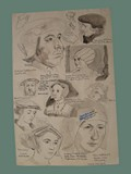 Drawing by Helga Wolfenstein in Theresienstadt of Historically Significant Europeans -- Back