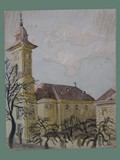 Watercolor Painting by Helga Wolfenstein at Theresienstadt